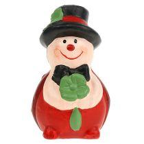 Chrząszcz ceramiczny Lucky charm 6cm czerwony 12szt