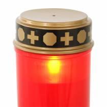 Żarówka LED czerwona, ciepła biel z timerem na baterie Ø6,8 W12,2 cm