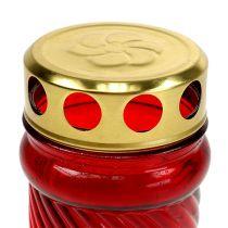 Grób jasnozielony czerwony Ø6cm W10,5cm 1 szt