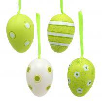 Zawieszka jajko plastikowa zielona 6cm 12szt