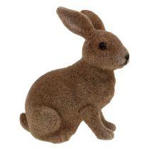 Królik flokowany brązowy 11cm, 13,5cm 6szt