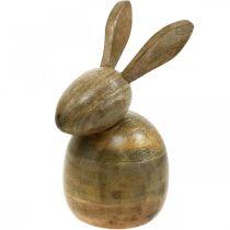 Drewniany zajączek siedzący, dekoracja zajączek, drewniana dekoracja, Wielkanoc 18cm