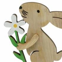 Zatyczka do kwiatów drewniana króliczek 9cm 12szt