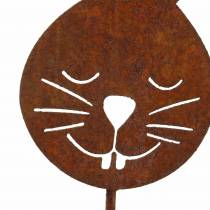 Głowa królika metalowy korek rdza H52,5cm