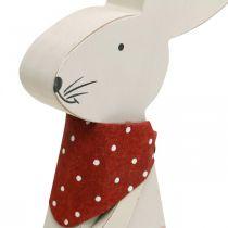 Króliczek dziewczynka, dekoracja wiosenna, drewniany króliczek z wiaderkiem, króliczek wielkanocny