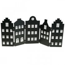 Deco House Metal Metal Black Stand-up City Silhouette 40×18cm