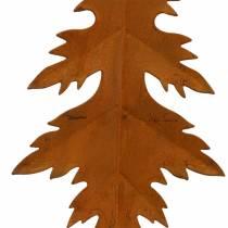 Jesienne liście stal nierdzewna do zawieszenia 13cm 4szt.