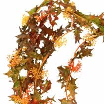 Jesienna girlanda pomarańczowa 3m