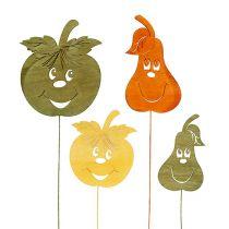 Jabłko jesienna dekoracja na piku, różne gruszki D33cm 12szt