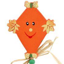 jesienna dekoracja na piku Drachen pomarańczowy L31cm 4szt