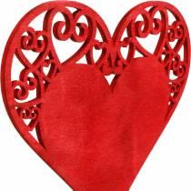 Serce na patyku, dekoracja zatyczka serce, dekoracja ślubna, walentynki, dekoracja serce 16szt.