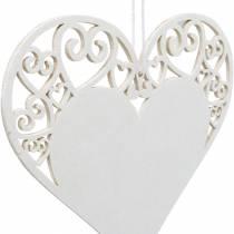 Dekoracja wisząca serce, dekoracja ślubna, drewniana zawieszka serce, dekoracja serca, walentynki 12szt.