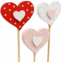 Dekoracyjny korek serce, dekoracja ślubna, dekoracja kwiatowa na walentynki, dekoracja serce 24szt.