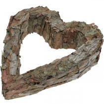 Deco Serce Otwarte Kora Sosnowa Jesienna Dekoracja Grobu 30×24cm