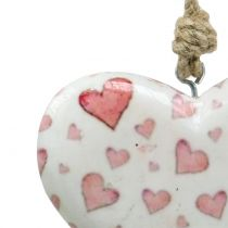 Dekoracyjne wiszące serce ceramiczne 11 cm x 10 cm