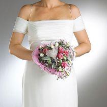 Stojak na bukiet ślubny z pianki w kwiaty Ø7cm 16cm 6szt