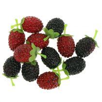 Malina mix czerwony / czarny 4cm x 2cm 36szt