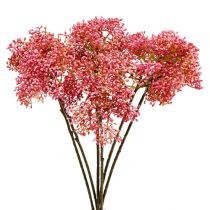 Gałązka bzu różowa 54,5cm 4szt.