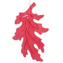 Liście drewniane mix do powieszenia kolorowe asortymentowe 15cm 9szt.