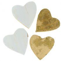Drewniane serce w torbie 2cm - 4cm 24szt