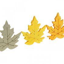 Dekoracja rozsypanka jesienna, liście klonu, liście jesienne Złote, pomarańczowe, żółte 4cm 72szt.