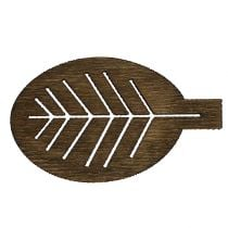 Liście drewniane różne 4cm natura 72szt.