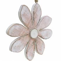 Pastelowe kwiaty dekoracyjne, kwiaty letnie, kwiaty drewniane, dekoracja kwiatowa do powieszenia Ø12,5cm 3szt.