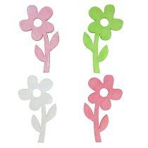 Różany kwiat pastelowy 6 cm 72St