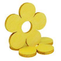 Kwiaty drewniane Ø4cm żółty 72szt