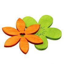 Drewniane kwiaty 4cm różne kolory 72St