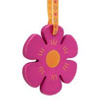 Wieszak drewniany kwiat Ø8cm w kolorze 12szt