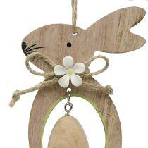 Zawieszka drewniana dekoracyjna zajączek z jajkiem 4szt.