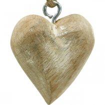 Serduszka drewniane ozdoby choinkowe 4,5cm 36szt