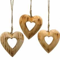 Zawieszka dekoracyjna serce, serce drewniane, walentynki, zawieszka drewniana, dekoracja ślubna 6szt
