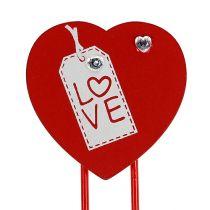 """Klipsy drewniane serce """"Love"""" ozdobne serduszko na walentynki 2szt"""
