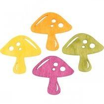 Grzyby do dekoracji, jesienna dekoracja, grzyby szczęścia do dekoracji Pomarańczowy, Żółty, Zielony, Różowy wys. 3,5/4cm szer. 4/3cm 72St