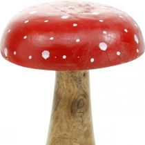 Muchomor drewniany dekoracyjny grzybek jesienny Ø12cm H19cm