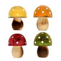 Drewniane grzybki dekoracja rozproszona 3cm Asortyment 24szt.