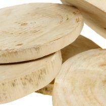 Tarcze drewniane naturalne Ø11cm - 13cm 5szt