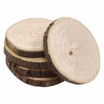 Krążki drewniane okrągłe natura Ø3,5-5cm 400g w siatce