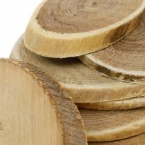 Deco drewniane krążki owalne natura krążek Ø4-7cm dekoracja drewna 400g