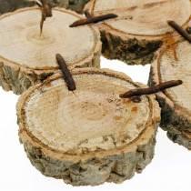 Podstawki dekoracyjne drewniane krążki natura 22×22cm