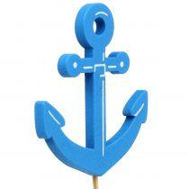 Drewniana wtyczka morska niebieska 9szt