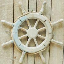 Drewniana kierownica, dekoracja żeglarska, marynistyczna Ø34,5cm