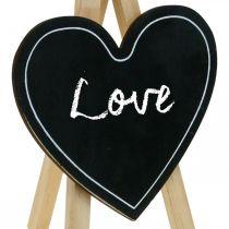 Tablica kredowa drewniana, dekoracja ślubna, tablica kredowa serce, dekoracja walentynkowa, dekoracja tablica kredowa 6szt.