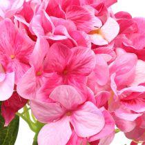 Hortensja duża sztuczna różowa L110cm