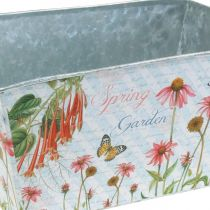 Jardiniere planter box metalowa dekoracja sprężynowa 20×12×10cm