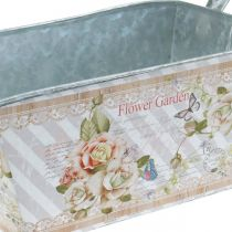 Jardiniere planter box metalowa dekoracja na lato 20×12×10cm
