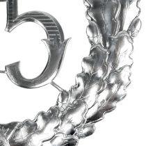 Rocznica numer 25 w kolorze srebrnym Ø40cm