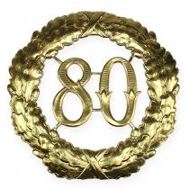 Rocznica numer 80 w kolorze złotym Ø40cm